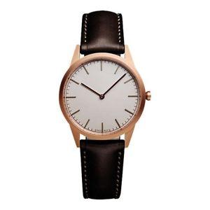 【送料無料】腕時計 ウォッチ ステンレススチールスイスクオーツuniform mercaderas c35 de acero inoxidable de cuarzo suizo y marrn cuero reloj