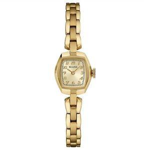 【送料無料】腕時計 ウォッチ ブレスレットレディースbulova 97l155 damas pequeo reloj de pulsera de oro