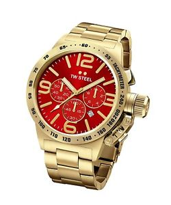 【送料無料】腕時計 ウォッチ スチールクロックtw steel cb113 de hombre dorado 45mm canteen reloj 2 aos de garanta