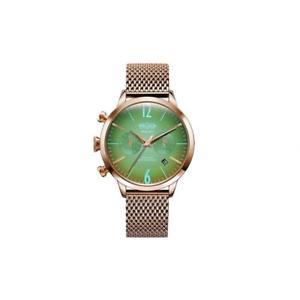 【送料無料】腕時計 ウォッチ ステンレススチールブレスレットケースsoldador para mujeres 38mm pulsera de acero inoxidable y estuche de cuarzo reloj con cuadrante verde wwr