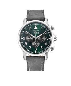 【送料無料】腕時計 ウォッチ セルッティアラームクロノアナログクロノグラフストップウォッチcerruti 1881 reloj hombre terra chrono cra081sn19gy analogico chronograph, cronmetro led