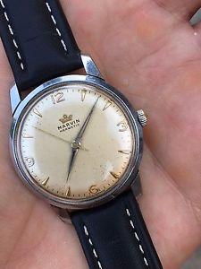 【送料無料】腕時計 ウォッチ ヴィンテージアラームマーvintage 1950s reloj para hombres marvin hermtica