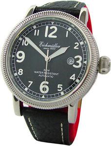 【送料無料】腕時計 ウォッチ アラームポリッシュスチールブラックレザーeichmller automatik aviador seores reloj acero pulido cuero negro miyota 8215