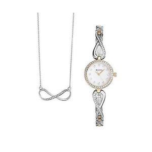 腕時計 ウォッチ ペンダントゲームネックレスbulova 98x109 mujer ncar reloj con cristales collar con colgante juego