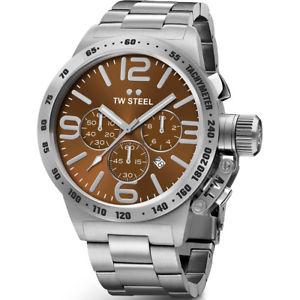 【送料無料】腕時計 ウォッチ スチールクロノグラフウォッチtw acero cb24 reloj con crongrafo para hombre 50 mm cantina 2 aos de garanta
