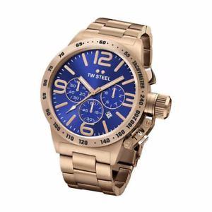 【送料無料】腕時計 ウォッチ スチールピンクゴールドクロックtw steel cb183 hombre oro rosado 45mm canteen reloj 2 aos de garanta