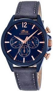 【送料無料】腕時計 ウォッチ アラームスマートカジュアルreloj hombre lotus smart casual 182011 de material azul