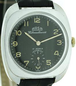 【送料無料】腕時計 ウォッチ スタイルヴィンテージアラームarsa incabloc vintage mitilruhr reloj hombre en el estilo wwii
