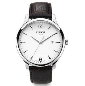 【送料無料】腕時計 ウォッチ ティソスイスクオーツシルバーアラームtissot t0636101603700 t0636101603700 plateado cuero cuarzo suizo reloj