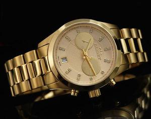 腕時計 ウォッチ ゴールドスイスクロノグラフアラームbisset bsbe22 oro crongrafo swiss made reloj reloj de pulsera
