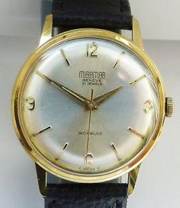 【送料無料】腕時計 ウォッチ miramar geneve 21 jewels reloj pulsera caballero 60er aos