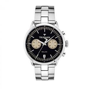腕時計 ウォッチ テンポリリースorologio tempo e data uomo trussardi tevolution r2453123003 acciaio originale