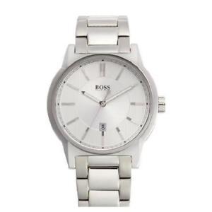 【送料無料】腕時計 ウォッチ ヒューゴボスシルバーステンレススチールブレスレットミネラルクリスタルクロックキャリングケースhugo boss hb1512914 44mm plata pulsera de acero inoxidable fecha reloj de cr