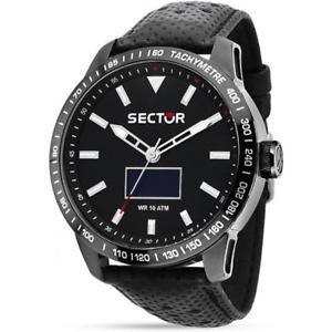 【送料無料】腕時計 ウォッチ セクタースマートレザーサブタッチメートルreloj de hombre sector 850 smart r3251575010 touch cuero negro sub 100mt