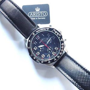 【送料無料】腕時計 ウォッチ クォーツクロノグラフステンレスaristo 4h158 carbon cuarzo chronograph, acero inoxidable, carbonoptik, datumanzeiger