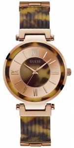 【送料無料】腕時計 ウォッチ アラームピンクゴールドブレスレットreloj gues por mujer w0638l8 oro rosa pulsera