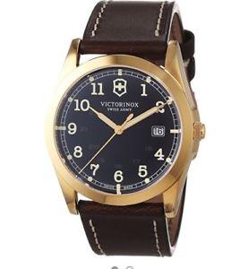 【送料無料】腕時計 ウォッチ スイスアーミーフィールドゴールデンブラウンクオーツvictorinox swiss ejrcito infantera esfera marrn dorado ss cuarzo reloj masculino 241645