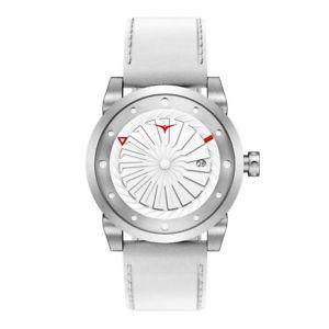 【送料無料】腕時計 ウォッチ マジックタービンzinvo magic turbina automatico acciaio grigio bianco pelle zaffiro orologio uomo