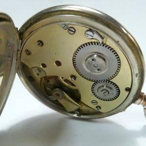 【送料無料】腕時計 ウォッチ シルバーポケットウォッチkamp;m reloj avance retard movimiento antiguo 0,800 plata reloj de bolsillo