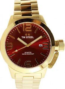 【送料無料】腕時計 ウォッチ スチールブレスレットステンレススチールゴールドtw steel gran reloj pulsera canteen bracelet acero inoxidable dorado 50mm cb112