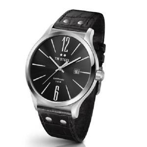 腕時計 ウォッチ スチールアラームブラックレザーアナログtw steel oversize reloj hombre tw1300 tw1300 analogico cuero negro