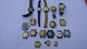 【送料無料】腕時計 ウォッチ lot de 18 montres anciennes mcanique rviser ou pour pices