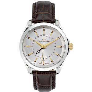 腕時計 ウォッチ ビアンコorologio uomo lucien rochat montpellier r0451104001 gmt pelle marrone bianco