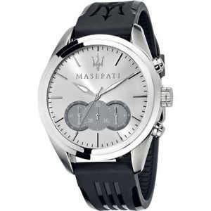 【送料無料】腕時計 ウォッチ マセラティマセラティポリウレタンクロノグラフシルバーorologio uomo maserati traguardo 45 mm cronografo poliuretano silver r8871612012