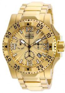 【送料無料】腕時計 ウォッチ クロノグラフクロック23902 invicta 495mm excursion crongrafo esfera dorada reloj de hombre