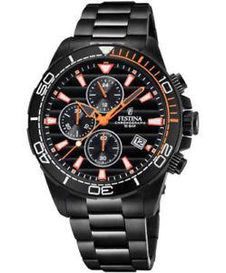 【送料無料】腕時計 ウォッチ ブラッククロノグラフウォッチ
