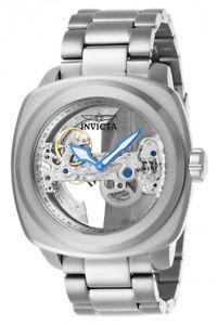 【送料無料】腕時計 ウォッチ ステンレススチールスケルトンウォッチinvicta hombres aviator automtico 200m acero inoxidable esfera esqueleto reloj