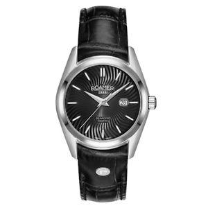 【送料無料】腕時計 ウォッチ ローマーブランドブラックレザーストラップシーロッククォーツ