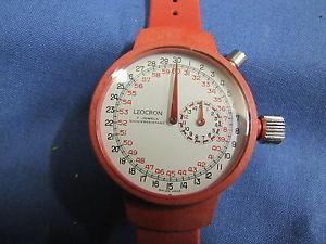 【送料無料】腕時計 ウォッチ クロノグラフロッサヌオーヴォleocron cronografo da polso meccanico resina rossa nuovo nos 270