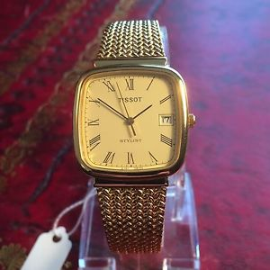 【送料無料】腕時計 ウォッチ スタイリストブレスレットクォーツnuevo anunciotissot estilista cuarzo reloj para hombres chapado en oro en pulsera