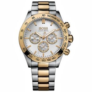 送料無料 腕時計 ウォッチ ヒューゴボスクロノアラームバイカラーゴールドシルバーhugo boss 1512960 春の新作 ikon chrono reloj color nuevo bi oroplata 5%OFF