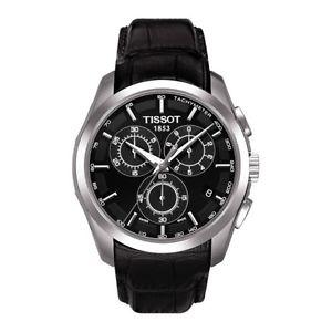 【送料無料】腕時計 ウォッチ ティソクロノグラフt¥ブラックtissot couturier crongrafo reloj t0356171605100 negro cuero rrp 360
