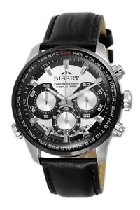 腕時計 ウォッチ クロノグラフスイスbisset bsce 87 world watch chronograph reloj hombre swiss made reloj de pulsera