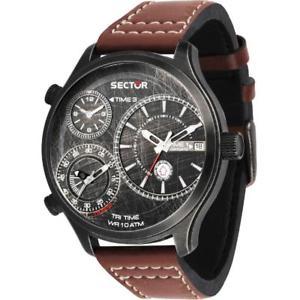 【送料無料】腕時計 ウォッチ reloj de hombre sector traveller r3251504003 cuero brown binoculares