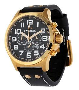 【送料無料】腕時計 ウォッチ スチールレディースブラックパイロットクロノグラフtw steel seores reloj pulsera piloto chronograph negro tw418