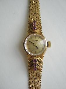 【送料無料】腕時計 ウォッチ アンカーゴールドシルバーancla seora reloj de pulsera plata dorado 835