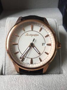 【送料無料】腕時計 ウォッチ フォーチュンローザスイスアラームnuevo reloj montegrappa fortuna rosa dorado reloj para hombres hecho en suiza idfowarj