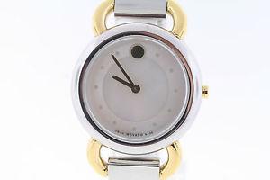 【送料無料】腕時計 ウォッチ ステンレススチールアラームフィールドトーンmujer movado 0606552 linio dos tonos acero inoxidable esfera madreperla reloj