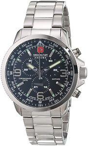 【送料無料】腕時計 ウォッチ アラームクロノグラフスイスswiss military para hombres negro reloj crongrafo sm34208aeuh04ms