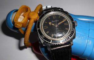 【送料無料】腕時計 ウォッチ フォームクッションビンテージダイバークロックcaballeros vieja zentra reloj nutico en forma cojines 60er vintage diver exclusivamente