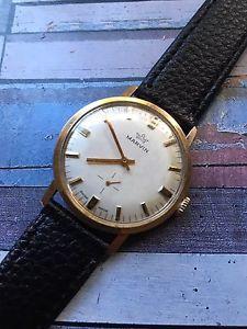 【送料無料】腕時計 ウォッチ ゴールドマンヴィンテージマービンアラームvintage marvin chapado en oro reloj para hombre