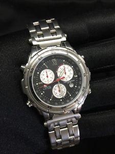 【送料無料】腕時計 ウォッチ スチールクロノアラームカレンダーlotus steel 9531 chrono cronograph calendar alarm watch reloj nos nuevo 40 mm