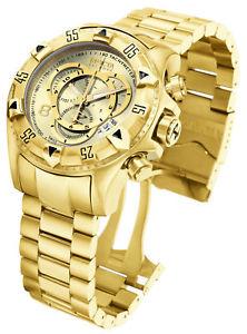 【送料無料】腕時計 ウォッチ ツアースイスクロノグラフゴールド6471 invicta suizo excursion 52mm todo oro crongrafo ss reloj de pulsera nuevo