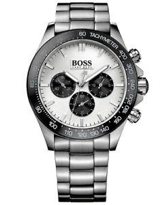 【送料無料】腕時計 ウォッチ ヒューゴボスイコンクロノアラームマニュアルカラーシルバーブラックoriginal hugo boss 1512964 ikon chrono reloj hombre color platanegro, nuevo