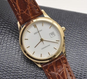 【送料無料】腕時計 ウォッチ ゴールドレディウォッチzenith cosmopolitan contemporary gold lady 27mm watch pristine unworn