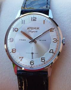 【送料無料】腕時計 ウォッチ ヴィンテージレアvintage watch cronometre atomik de luxe 1950 nos ultra rare similar the zenith